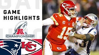 Patriots vs. Chiefs AFC Championship Highlights | NFL 2018 Playoffs width=