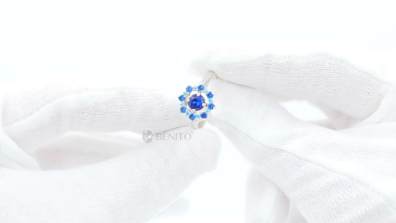 Valentina Ring Blue Spinel and Zircon Stones