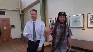 Freestyle Reggae Hip Hop With Strangers!  Rapping Dad