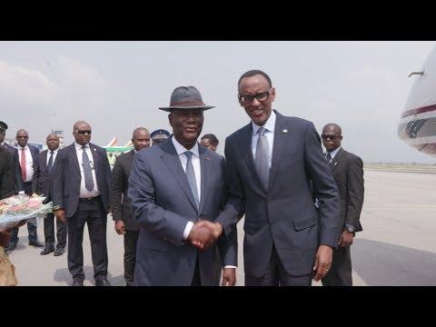 Arrivée en Côte d'Ivoire de S.E.M. Paul KAGAME, Président de la République du Rwanda