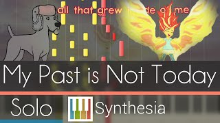 My Past is Not Today - |SOLO PIANO COVER w/LYRICS| -- Synthesia HD