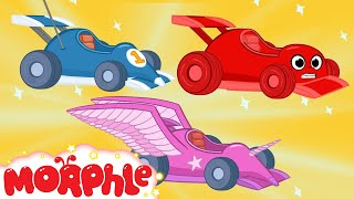 Race Car Morphle and The kids Super Heroes! My Magic Pet Morphle Animations For Kids