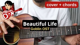 Chords - Beautiful life Goblin - OST - Beautiful by Crush - Karaoke Style Guitar Tutorial