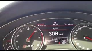 أودي RS7 يمشي بسرعة 314 كيلو على طريق الرياض القصيم