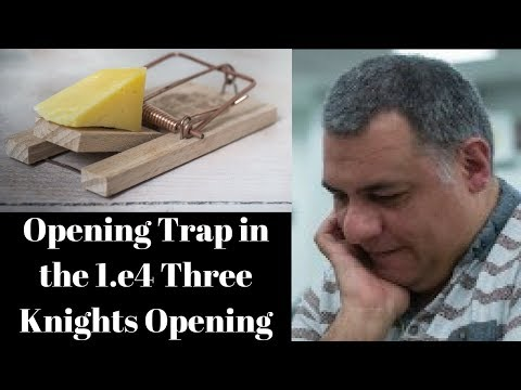 Opening Chess Trap: A very innocent looking trap in the 1.e4 Three knights opening (Part 2 of 2)