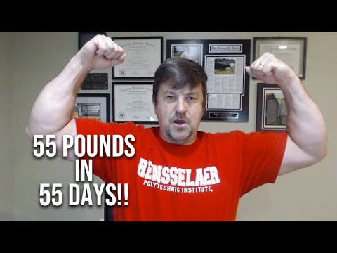 I've lost 55 pounds in 55 days!