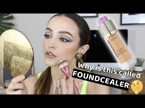 "IS THIS ANY GOOD"" TARTE FOUNDCEALER FOUNDATION *wear test*"