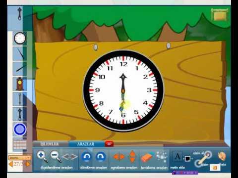 1., 2., 3., 4., 5. sınıf için Akıllı Matematik aracı-Zaman-Saat-Edusoft