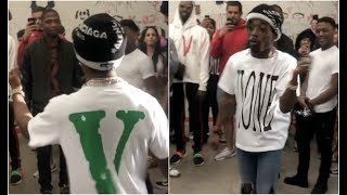 "Lil Uzi Vert Has A Dance Off With BlocBoy JB ""Look Alive"" Dance"