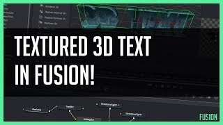 Texturing 3D Text in Fusion - DaVinci Resolve 15 Tutorial