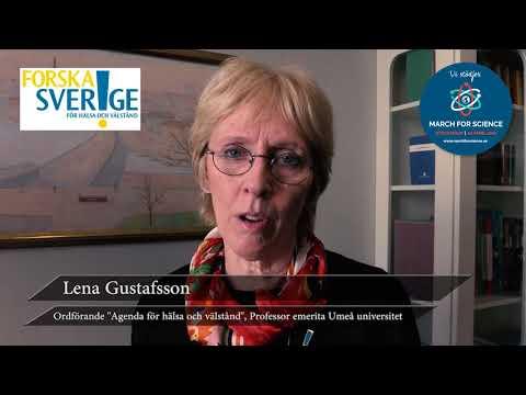 """Varför stödjer du March for Science? Lena Gustafsson, Ordförande """"Agenda för hälsa och välstånd"""""""