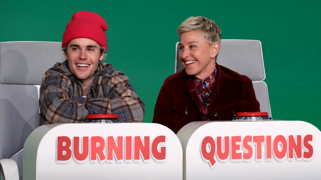 Justin Bieber answers Ellen's 'Burning Questions'