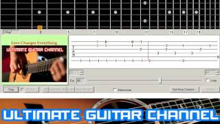 [Guitar Solo Tab] Love Changes Everything (Climie Fisher)