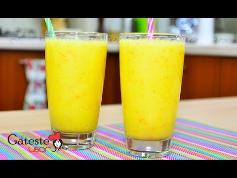 Cum se prepara un Smoothie cu Mere, Portocale si Ananas