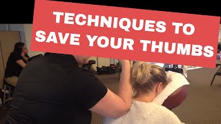 Chair Massage: Techniques to Save Your Thumbs width=