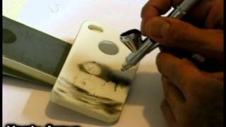 How to Airbrush on an iPhone 4 cover #2 - John Lennon