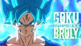 Goku Goes Super Saiyan Blue Against Broly [Dubstep Remix] (60FPS)