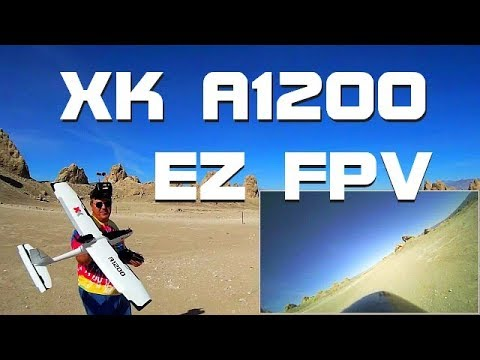 XK A1200 Large Stabilized FPV Airplane Flight Demo