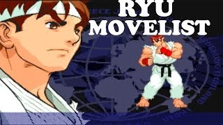Street Fighter Alpha 3 - Ryu Move List
