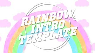 CUTE RAINBOW INTRO TEMPLATE (NO TEXT)