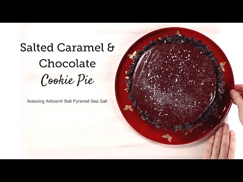 Salted Caramel & Chocolate Cookie Pie by SaltWorks®