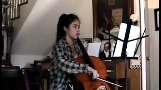 Beethoven, 7th Symphony, 2nd mov. theme, solo cello. Dominique Negrette