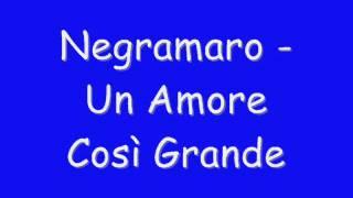 Negramaro - Un Amore Così Grande 2014 (Testo)