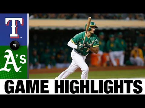 Rangers vs. A's Game Highlights (9/10/21)   MLB Highlights