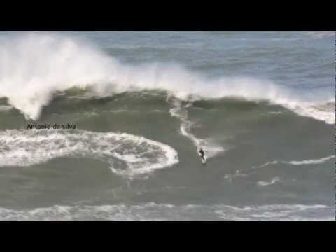 Nazare portugal big waves movie 2013 HD