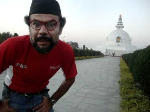 Prof. Juan Lázara se despide de Lumbini, el lugar de nacimiento de Buda..MPG