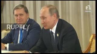 Ангела Меркел на среща с Владимир Путин