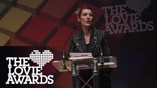 Izzy Lawrence presents danisnotonfire as Lovie Internet Video Person of the Year