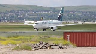 Q400 RUINS TAKEOFF SOUND!! WestJet Boeing 737-7CT Speedy Taxi and Takeoff From YYC