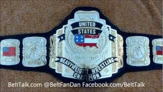 Custom WCW US United States Heavyweight Title Belt Leather wrestling Sting NWA