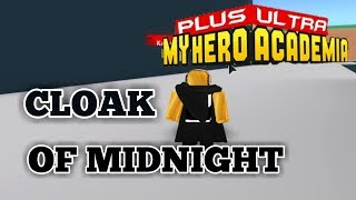 CLOAK OF MIDNIGHT GADGET!   Plus Ultra   ROBLOX