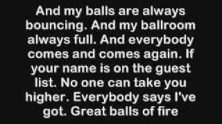 AC DC big balls lyrics