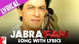 Lyrical: Jabra Fan Anthem Song with Lyrics | Shah Rukh Khan | Varun Grover width=