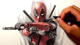 Deadpool Drawing Ballpoint Pen