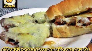Churrasco com queijo (contra - filé na chapa) no pão do posto Graal - Cueca Cook # 133