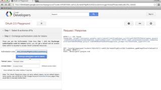 Googles OAuth Playground