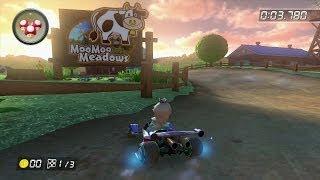 Mario Kart 8 - ᵂᶦᶦ Moo Moo Meadows Time Trial (1:30.264) [No Fire Hopping] [1080p]