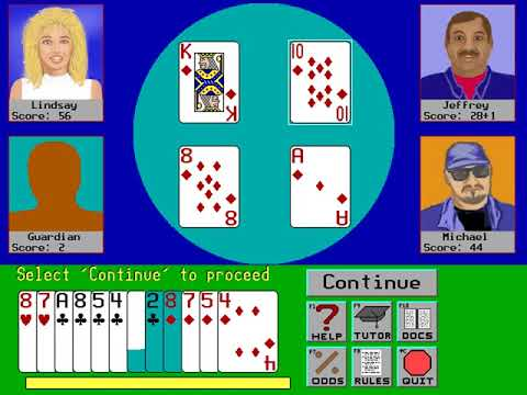 Hearts (John Comeau, Villa Crespo Software) (MS-DOS) [1993]