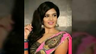 South Indian kanada actress Sanjana hot cleavage and beautiful width=