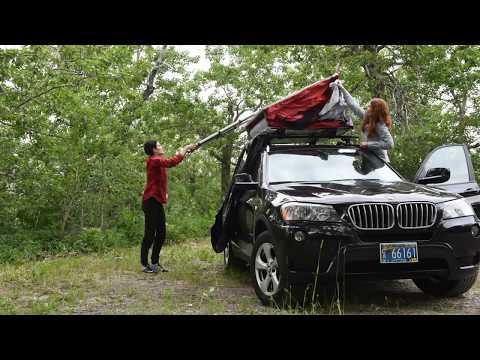 SkyRise Rooftop Tent Setup