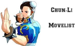 Street Fighter III: 3rd Strike - Chun-Li Move List