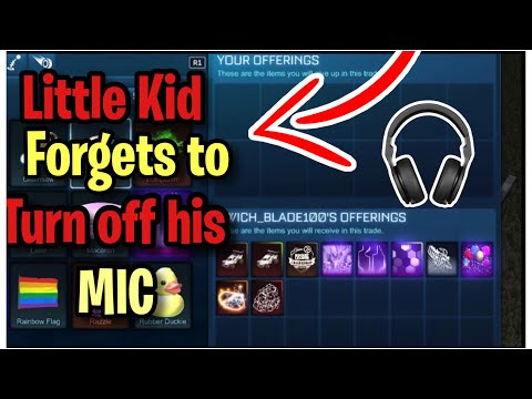 Stupid Kid Forgot to Turn OFF Mic ! (Scammed Gets Scammed) Rocket league