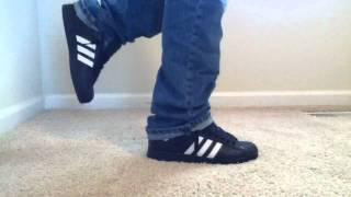 Adidas Superstar 2 Black/White on feet
