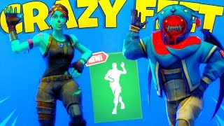 "*NEW* Fortnite ""Crazy Feet"" Emote Showcase With LEAKED & POPULAR Skins..!"