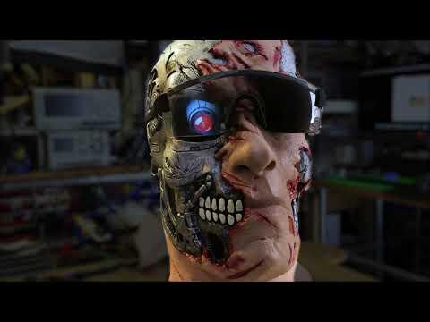 Terminator Upgraded with HalloWing Eyeball @adafruit @johnedgarpark #adafruit #terminator