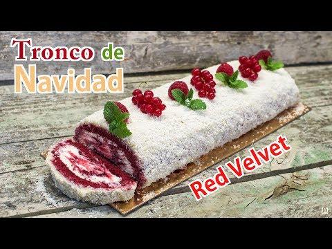 Tronco de Navidad Red Velvet Delicioso y Súper Fácil | Receta Brazo de Gitano Navideño Paso a Paso